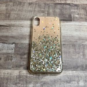 FOR IPHONE X & XS - Pink Glitter Phone Case